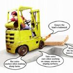 How to prevent a forklift from tipping over